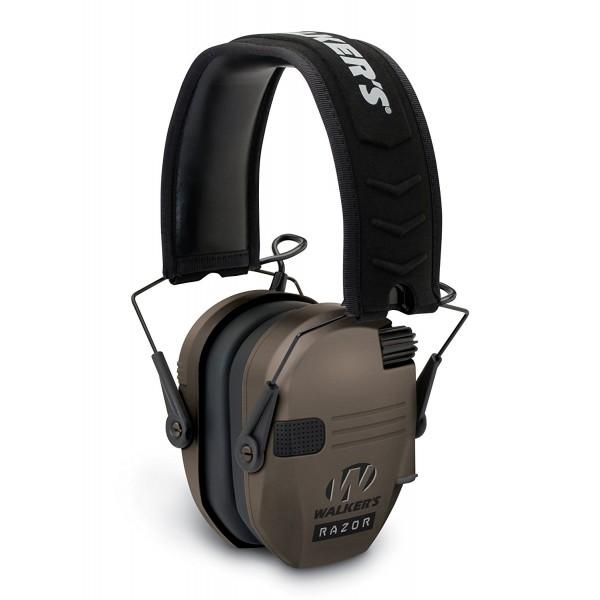 Protector auditivo Cascos de tiro electrónicos  Razor Slim Walker´s Flat Dark